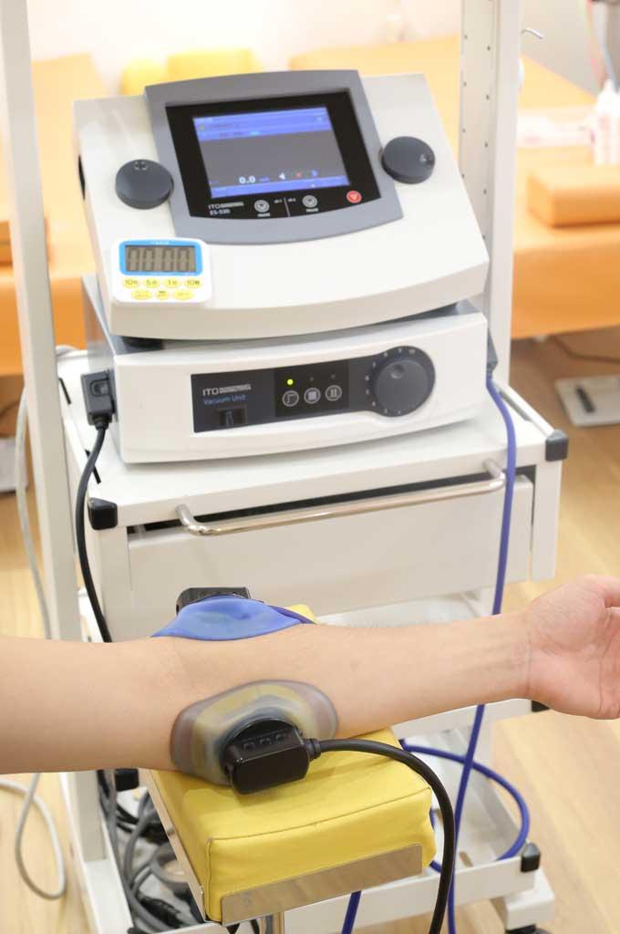超音波治療の様子。